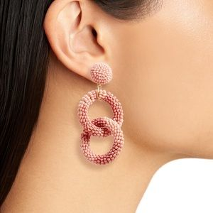 BP. Beaded Circle Drop Earrings